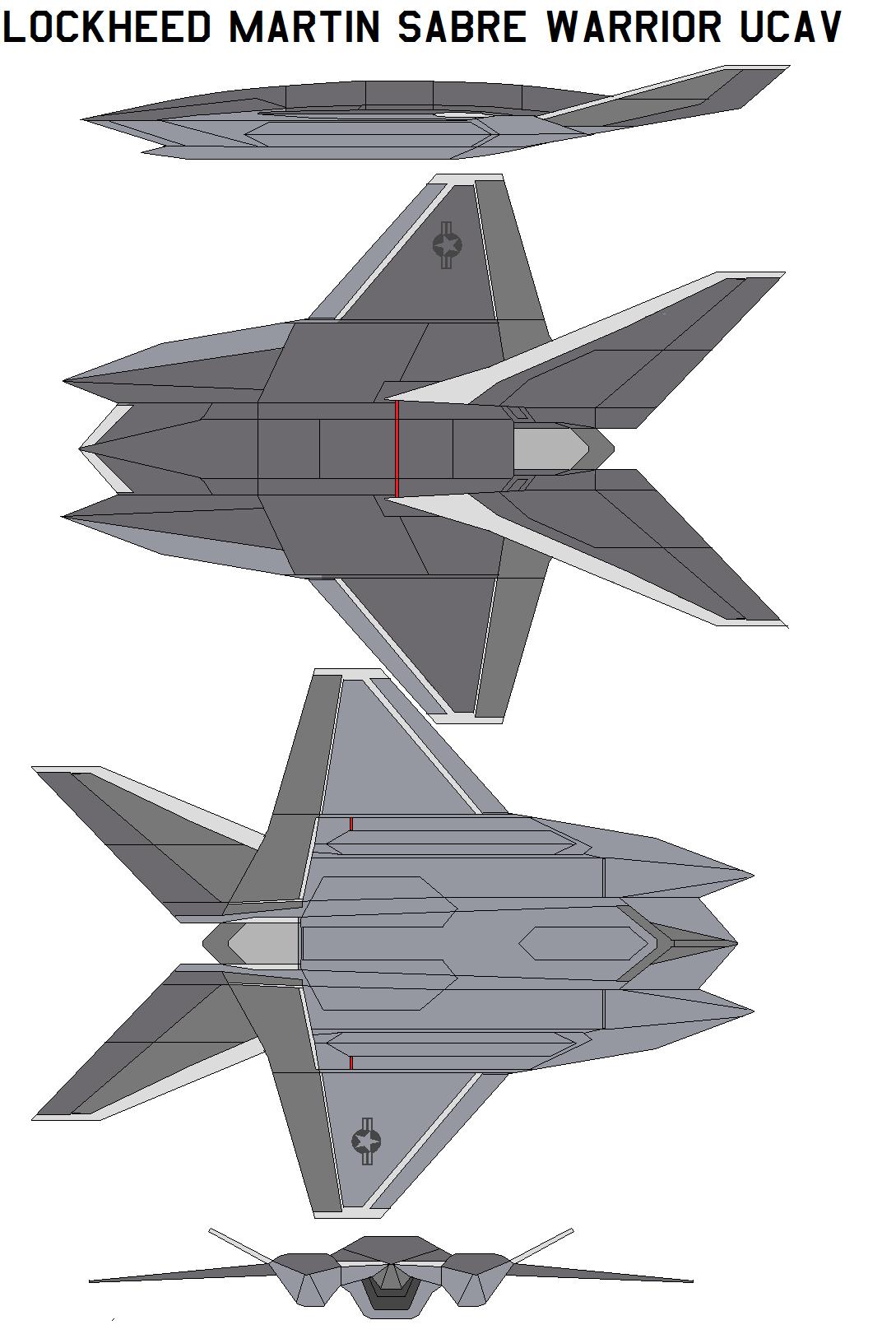 Lockheed Martin Sabre Warrior UCAV by bagera3005