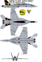 Super Hornet vfa-31 tomcatters by bagera3005