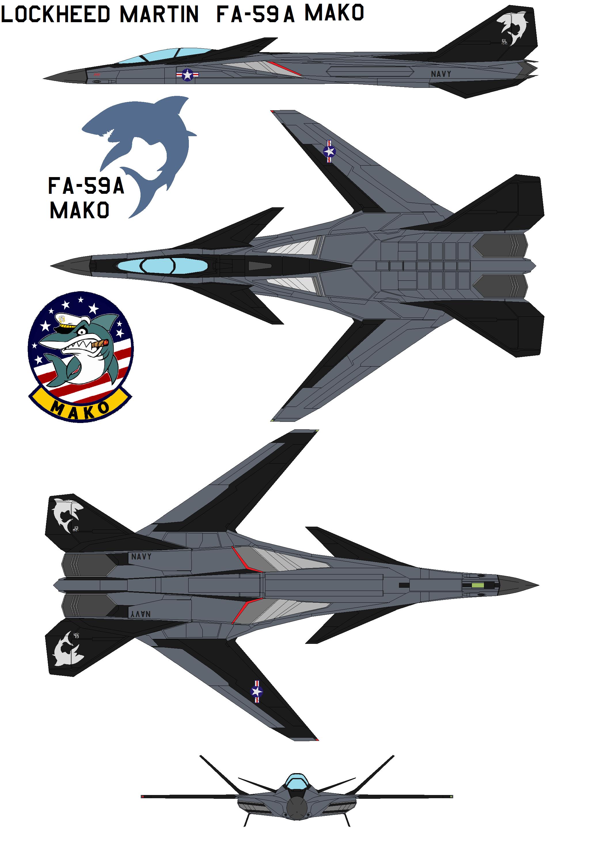 Lockheed Martin  FA-59A Mako by bagera3005
