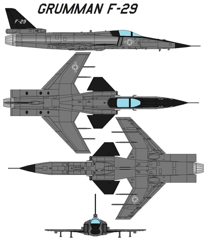 Grumman f-29 by bagera3005