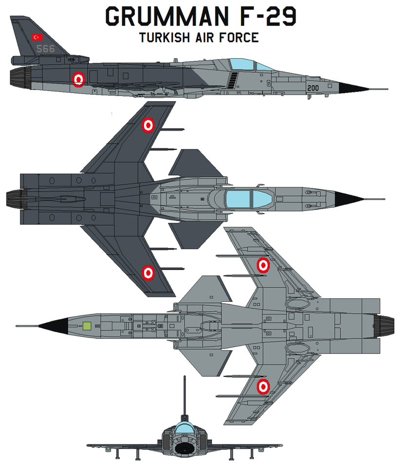 Grumman f-29  Turkish Air Force by bagera3005