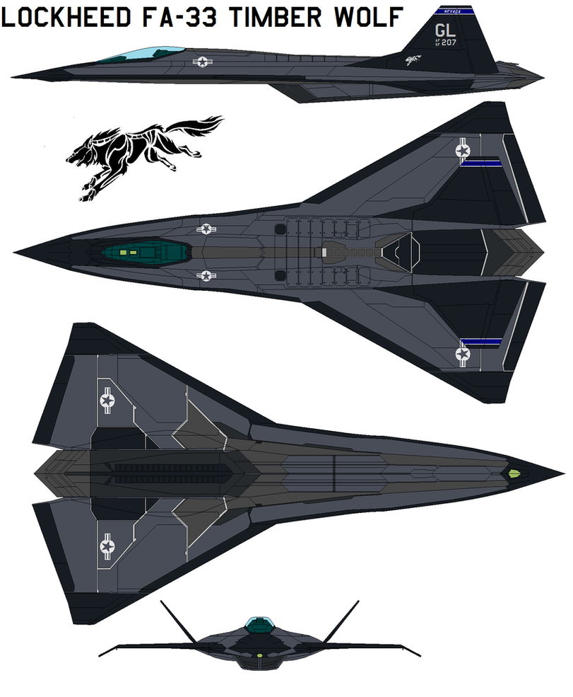 Lockheed  FA-33 Timber Wolf by bagera3005
