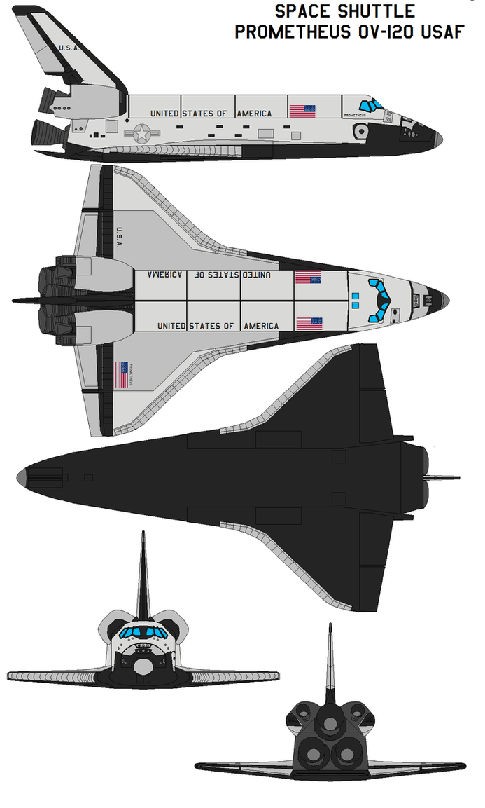 Space shuttle Prometheus OV-120 USAF by bagera3005 on ...