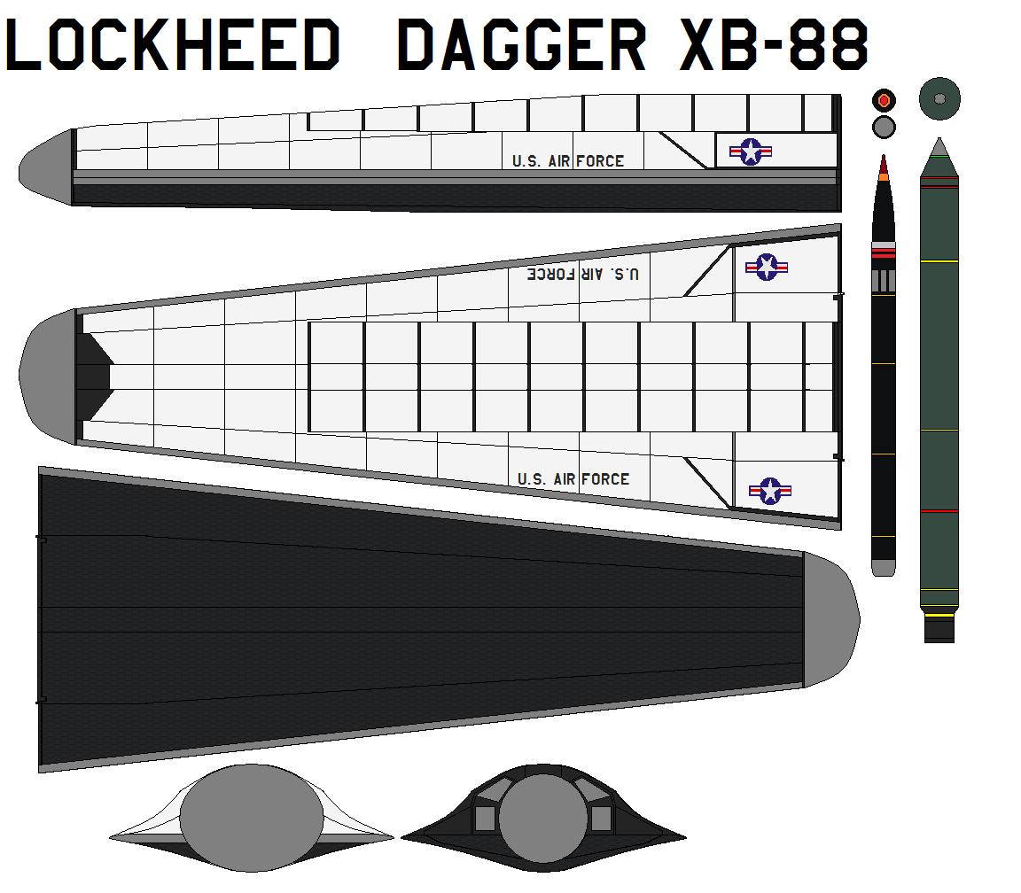 Lockheed  dagger XB-88 by bagera3005