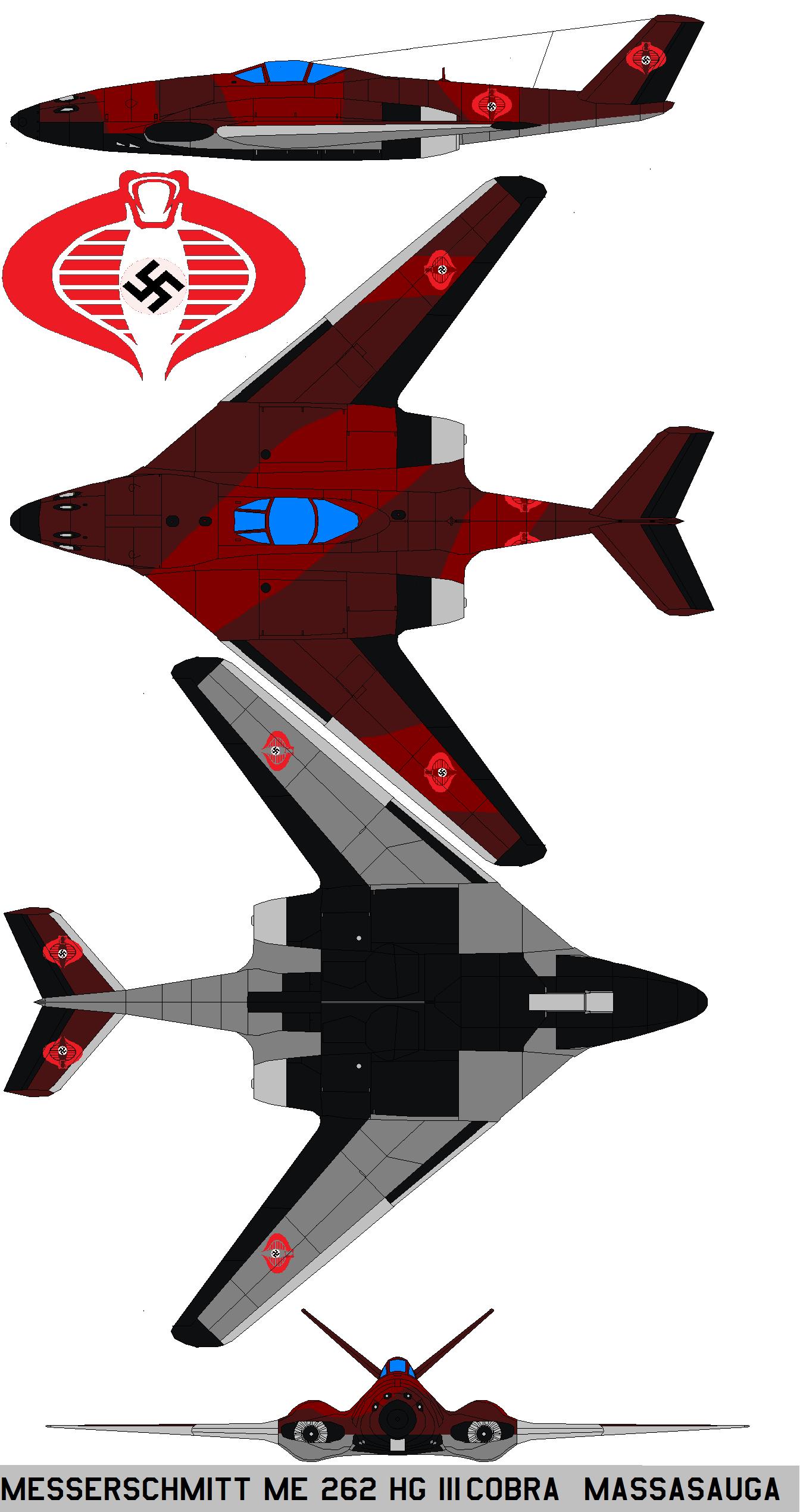Messerschmitt Me 262 Hg Iii Cobra Massasauga By Bagera3005