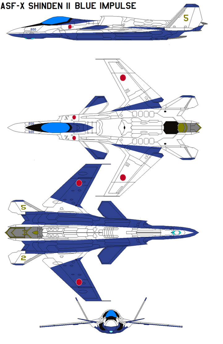 ASF-X Shinden II Blue Impulse by bagera3005