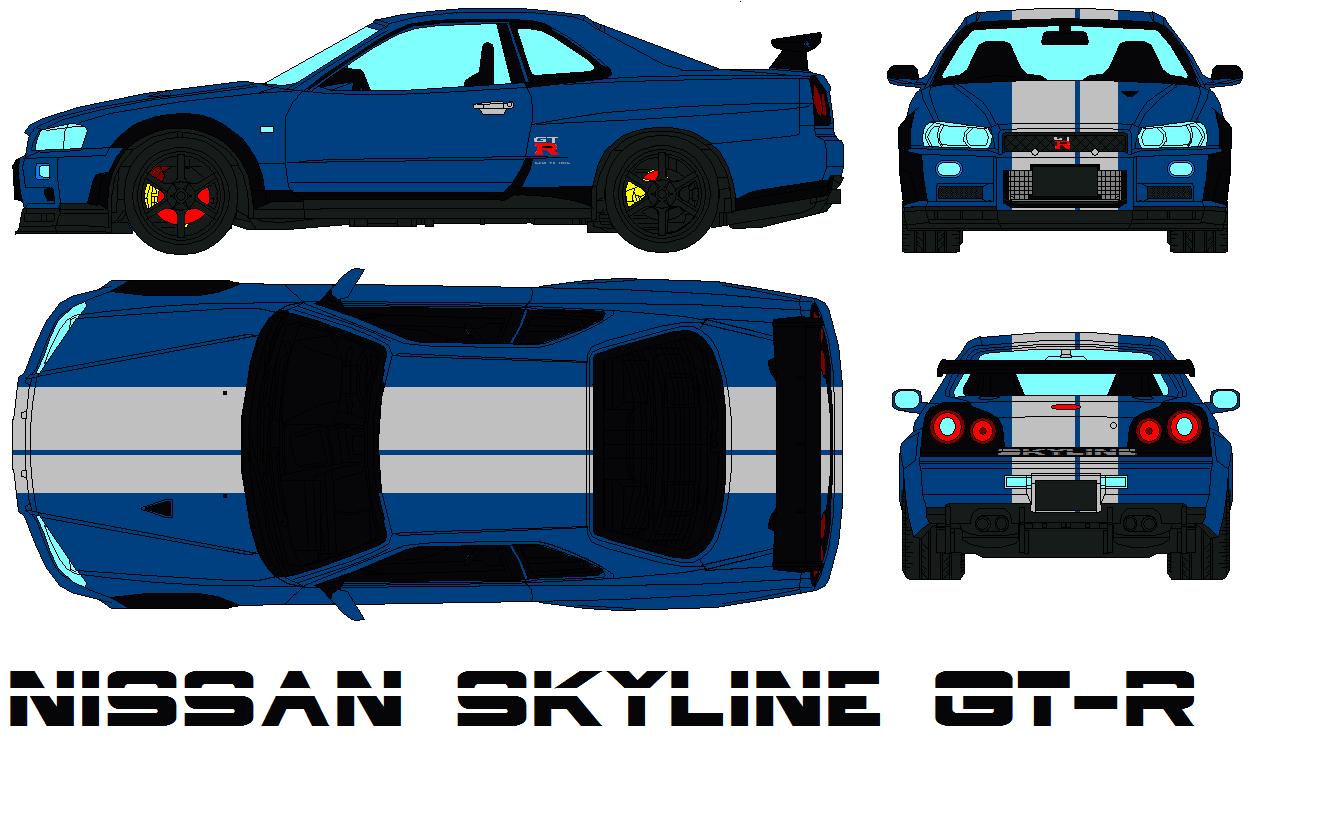 Cartoon Nissan Skyline Nissan Skyline gt r by