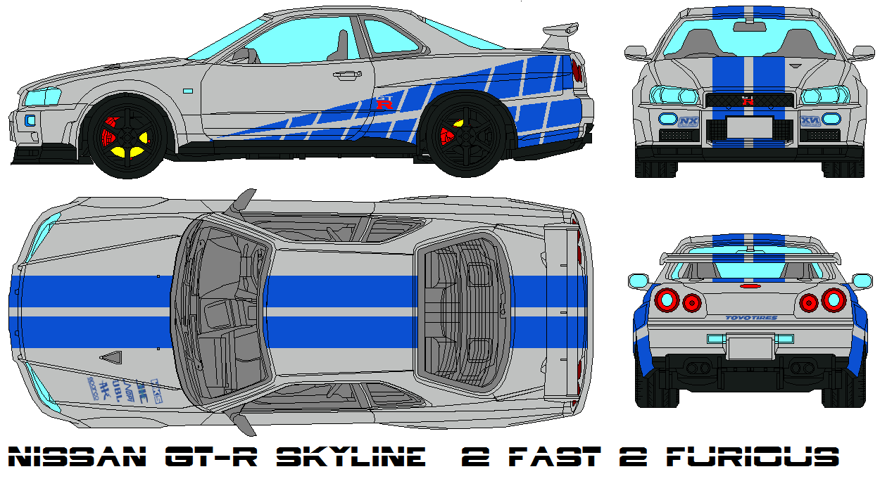 Nissan GT-R Skyline  2 fast 2 furious by bagera3005