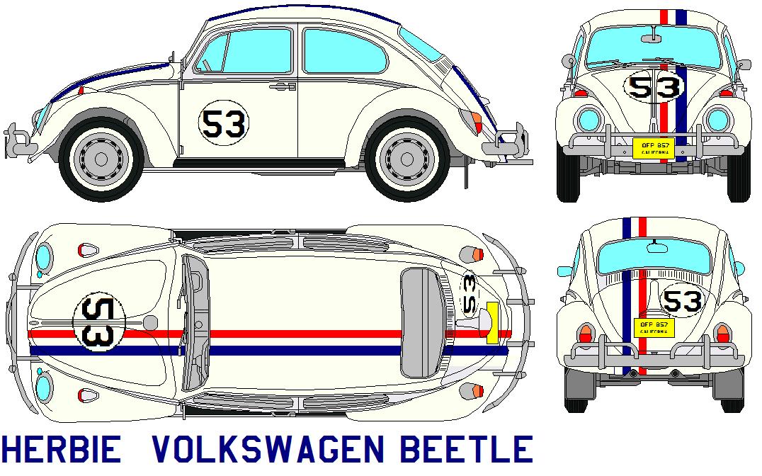 Herbie Volkswagen Beetle By Bagera3005 On Deviantart