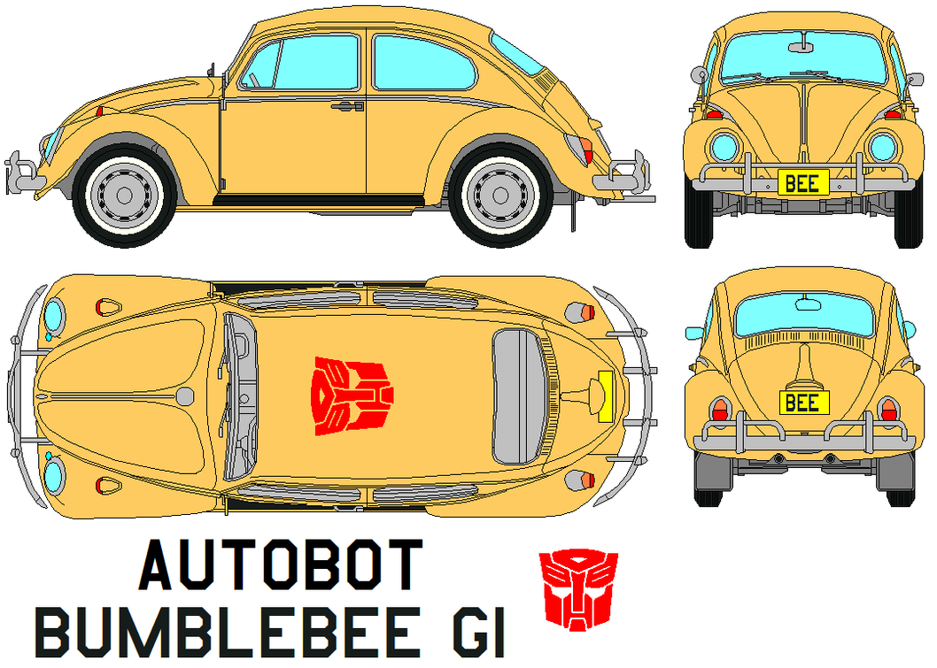 Wfcbumblebee together with Bumblebee Disguise also Pagani Huayra Transformers 4 together with Bumblebee's New Look besides Bumblebee. on vw beetle transformer