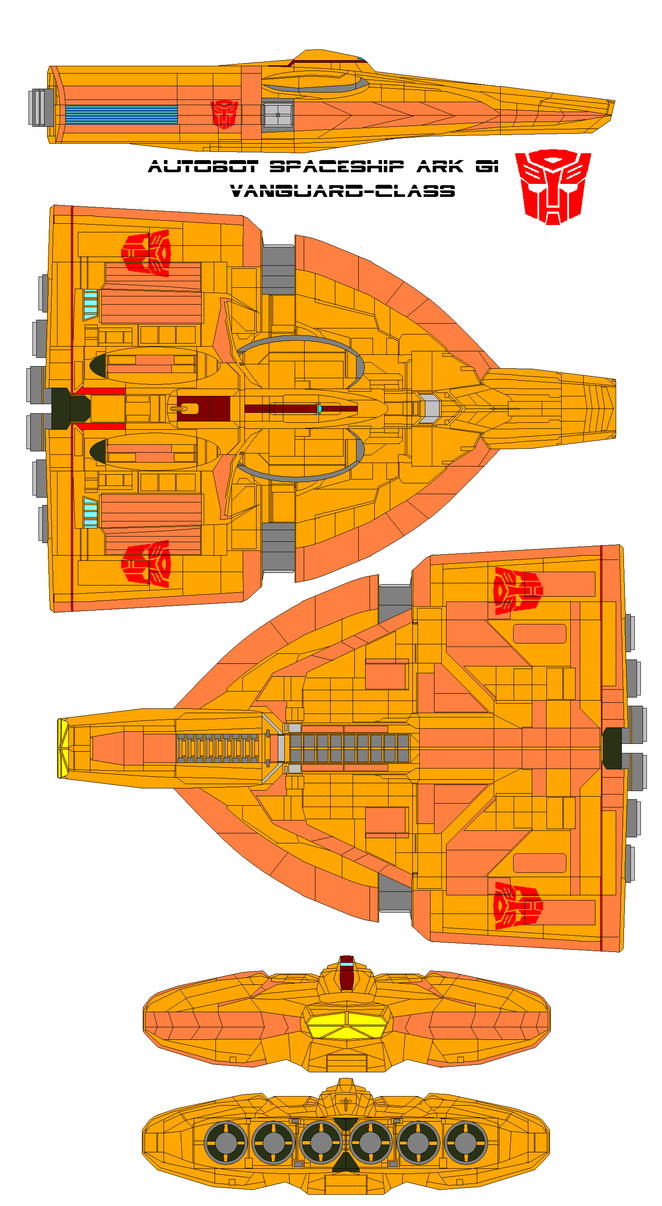 Autobot spaceship ARK G1 Vanguard-class by bagera3005 on ...