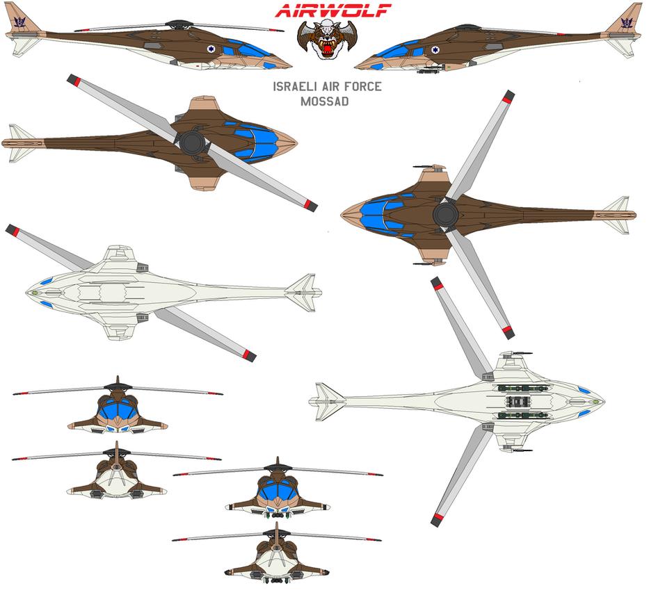 airwolf IDF Mossad by bagera3005