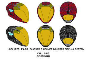 fa-70  Panther 2 Helmet call sine spiderman by bagera3005