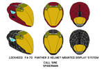 fa-70  Panther 2 Helmet call sine spiderman