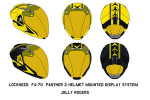 Panther 2 Helmet Mounted Display Jolly Rogers by bagera3005