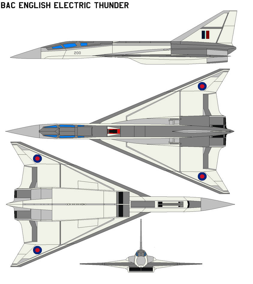 BAC English Electric Thunder by bagera3005