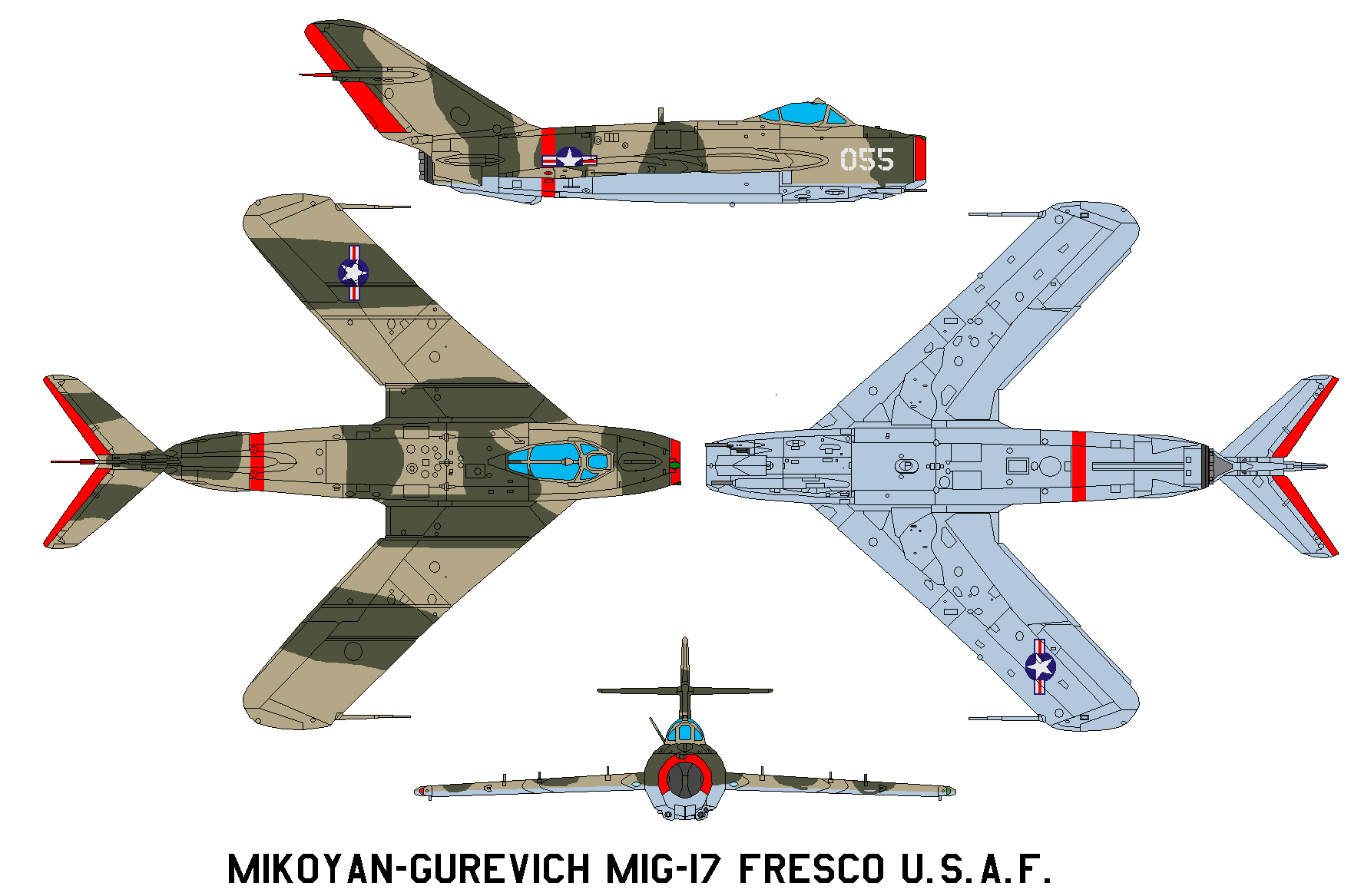 Mikoyan-Gurevich MiG-17 Fresco U.S.A.F. by bagera3005
