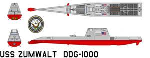 Zumwalt-class destroyer by bagera3005