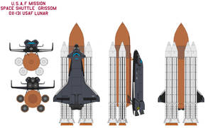 Space shuttle  Grissom OX-131 USAF mission Lunar