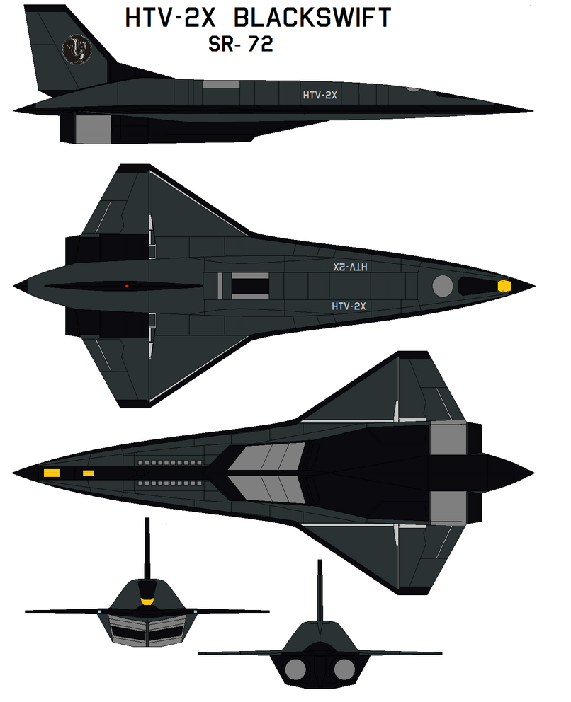 Lockheed Martin  HTV-2X  Blackswift SR-72 by bagera3005