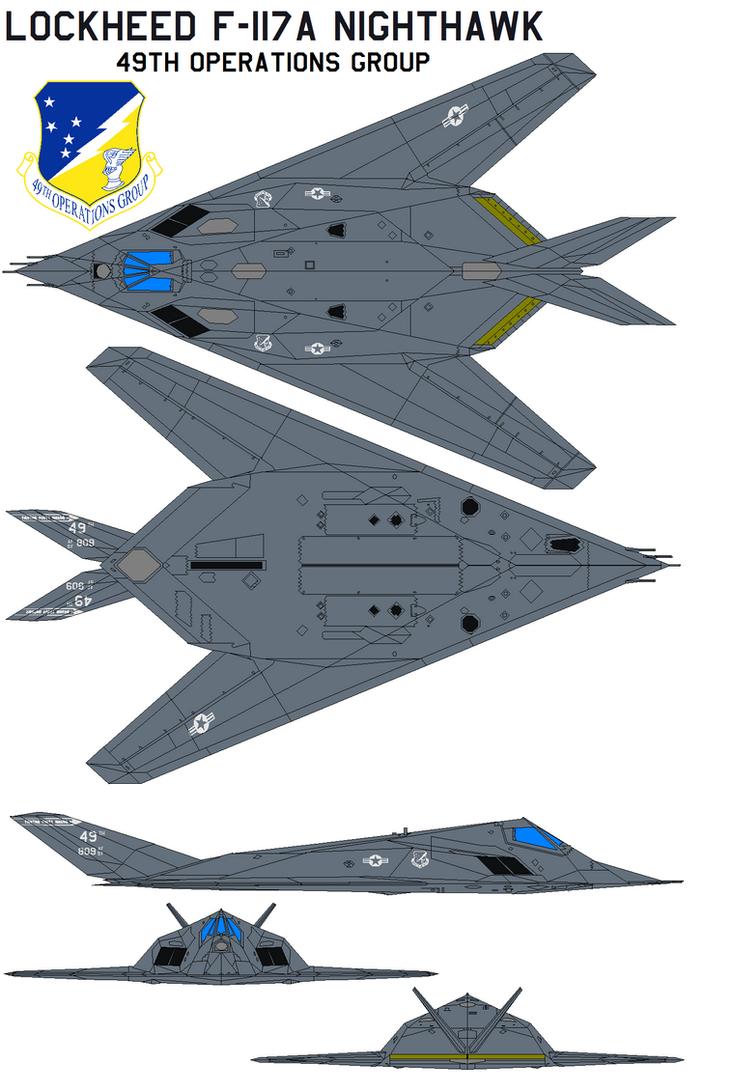 Lockheed F 117a Nighthawk 49th Og By Bagera3005 On Deviantart