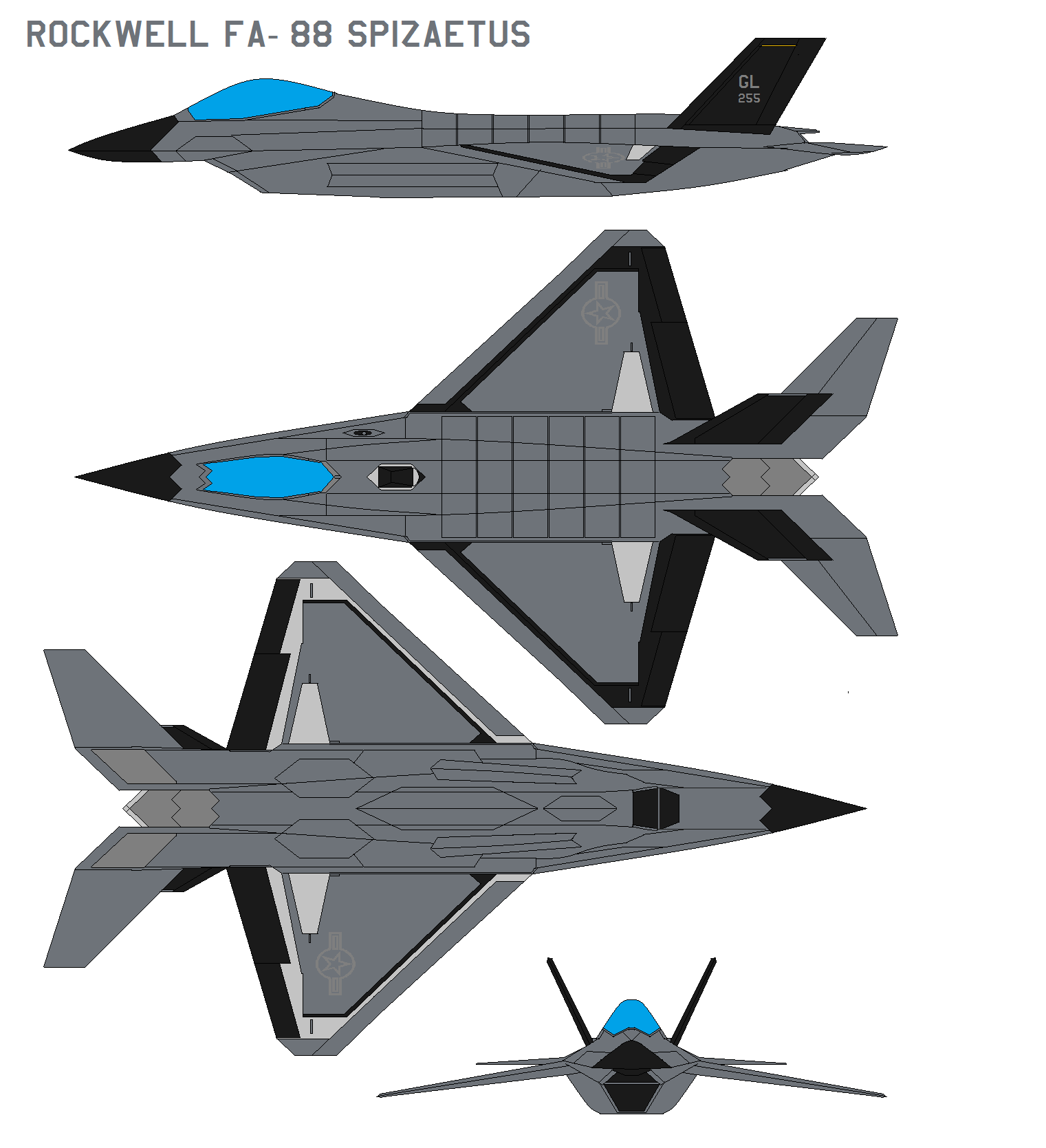 Rockwell FA-88 Spizaetus by bagera3005