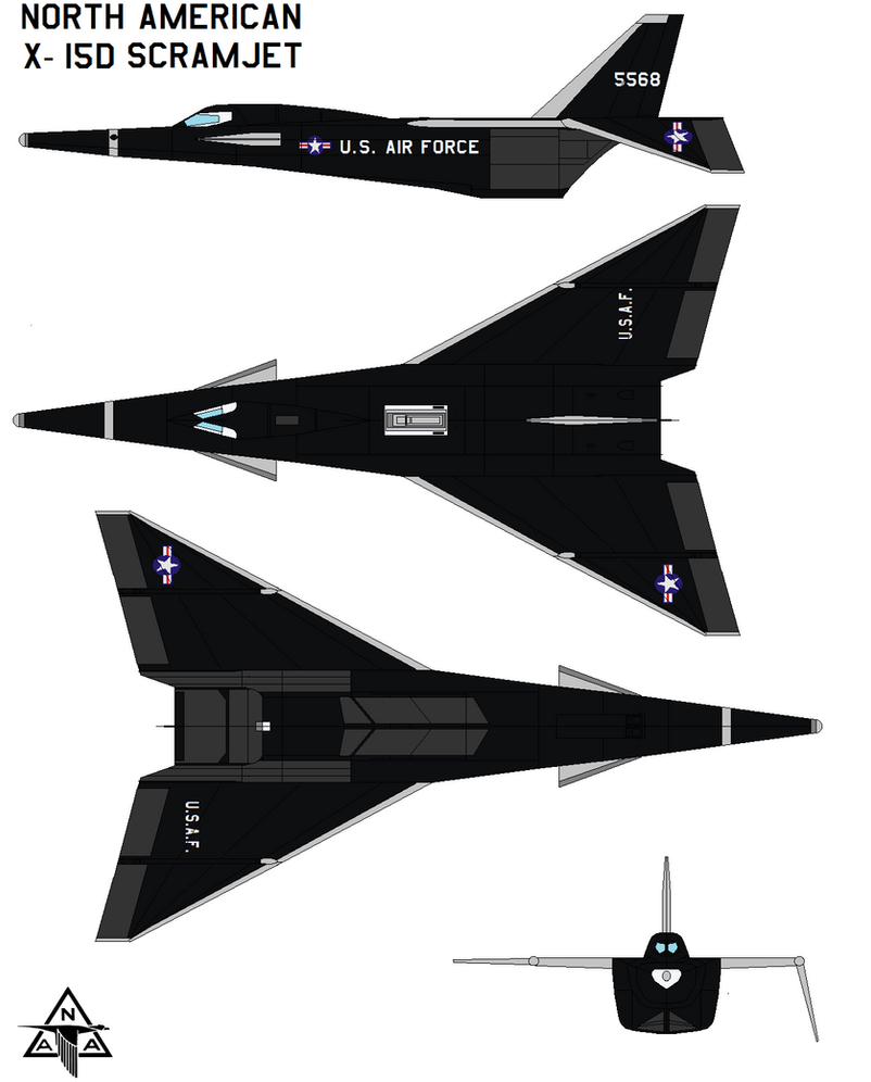 North American X-15D Scramjet by bagera3005 on DeviantArt
