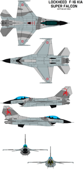 Lockheed  F-16kia G  super falcon (EAF)