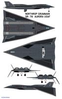 Northrop Grumman  sr-78  Aurora USAF gear by bagera3005