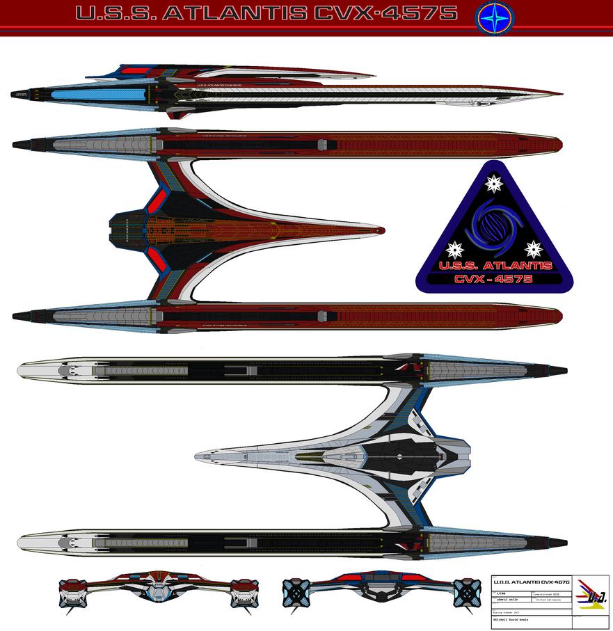 U.S.S. Atlantis CVX-4575 REFIT by bagera3005