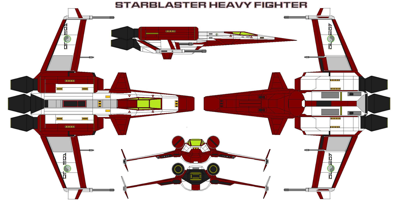 Starblaster Heavy Fighter by bagera3005