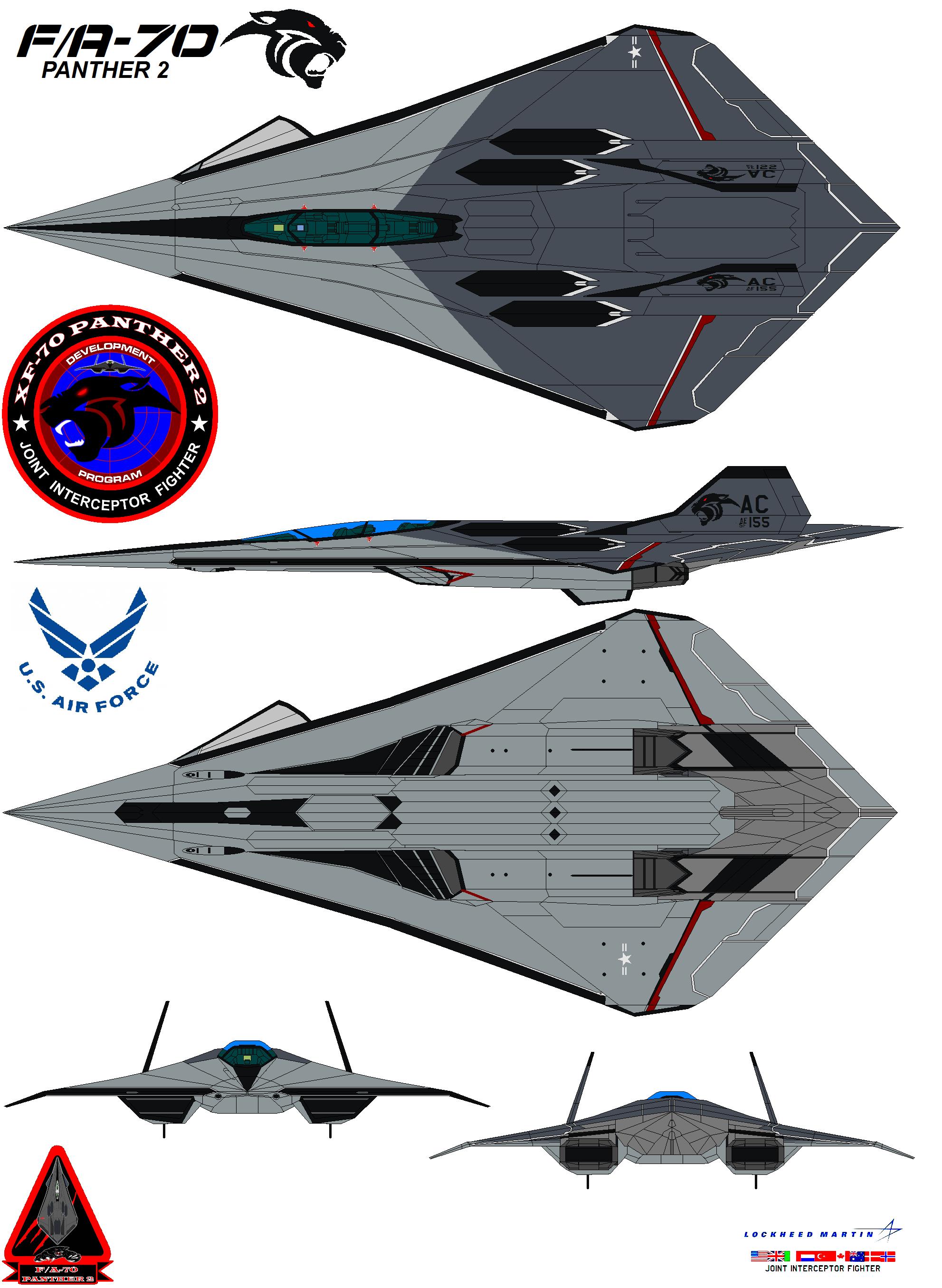 Lockheed  fa-70  Panther 2 USAF by bagera3005