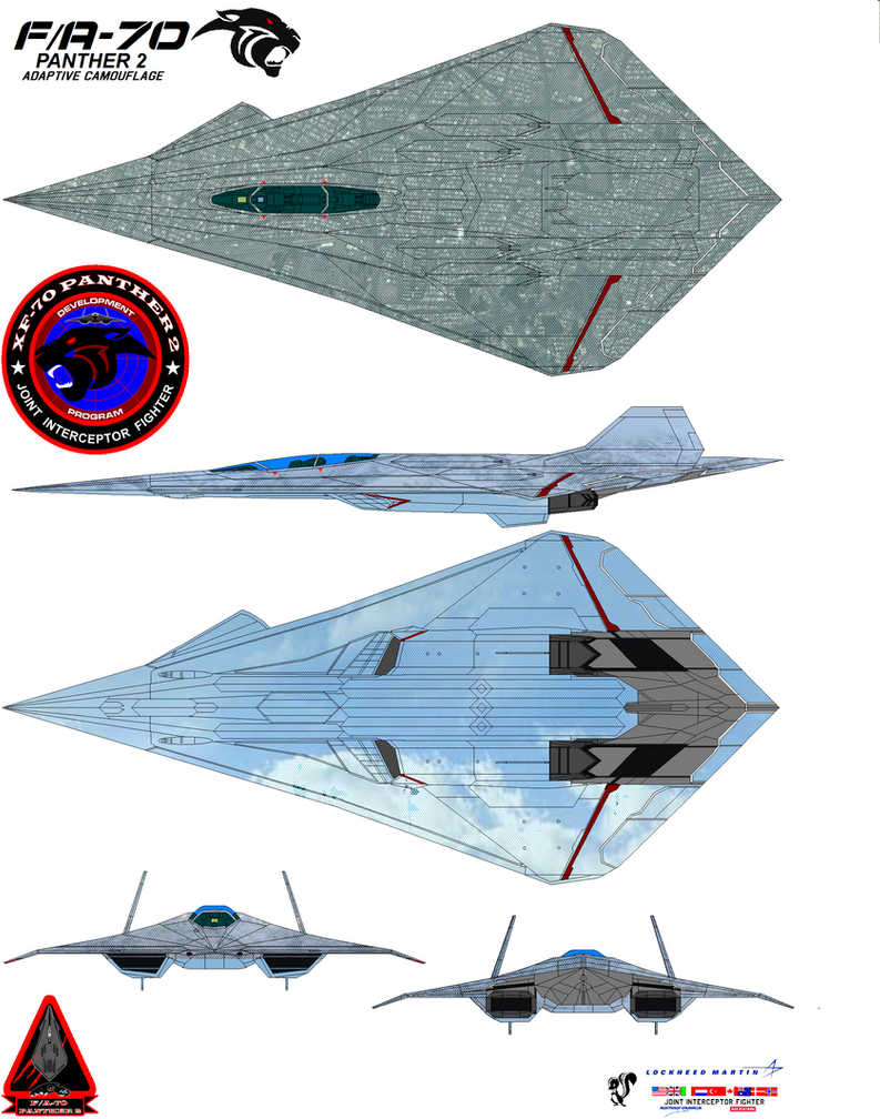 Lockheed  fa-70  Panther 2  Adaptive Camouflag by bagera3005