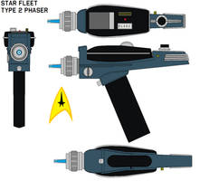 Star fleet Type 2 phaser by bagera3005