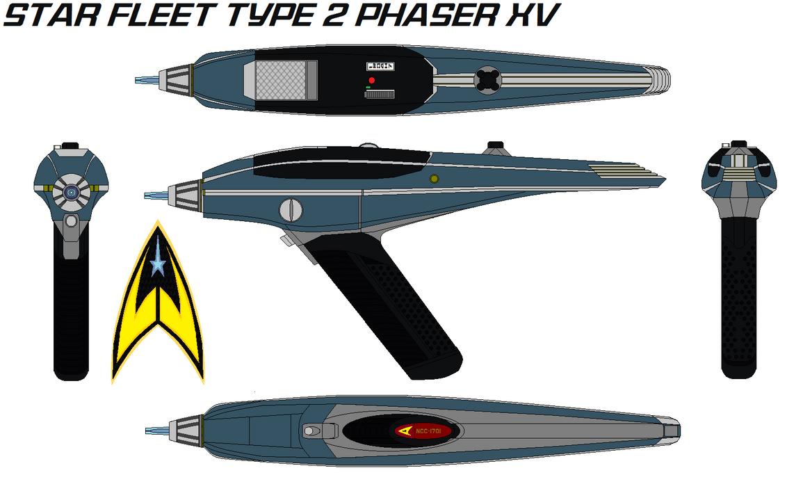 Star fleet Type 2 phaser XV by bagera3005