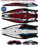 Atlantis type 8 shuttlecraft Plato