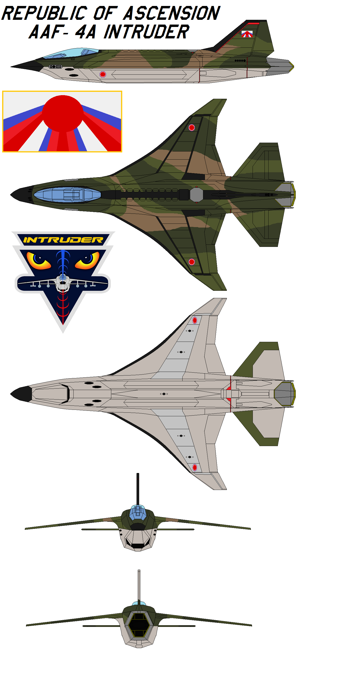 Republic of Ascension AAF-4A Intruder SEA Scheme by bagera3005