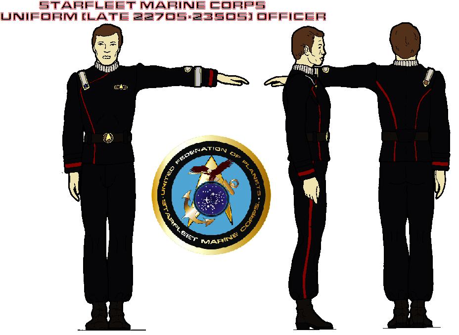 Starfleet Marine Corps Uniform Late 2270s 2350s By
