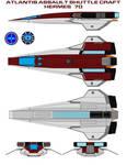 Atlantis Assault Shuttle Craft 70 Hermes