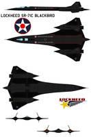 Lockheed SR-71C Blackbird by bagera3005