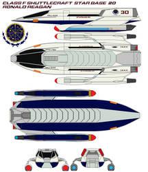 Class F shuttlecraft Ronald  Reagan  starbase 20 by bagera3005