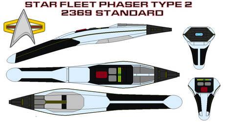 Star fleet Phaser type 2  2369 standerd by bagera3005