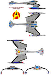 starfleet  D12 Class U.S.S. Event Horizon NCC-1900 by bagera3005
