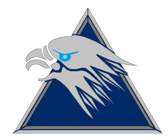 Silverhawks logo blue back