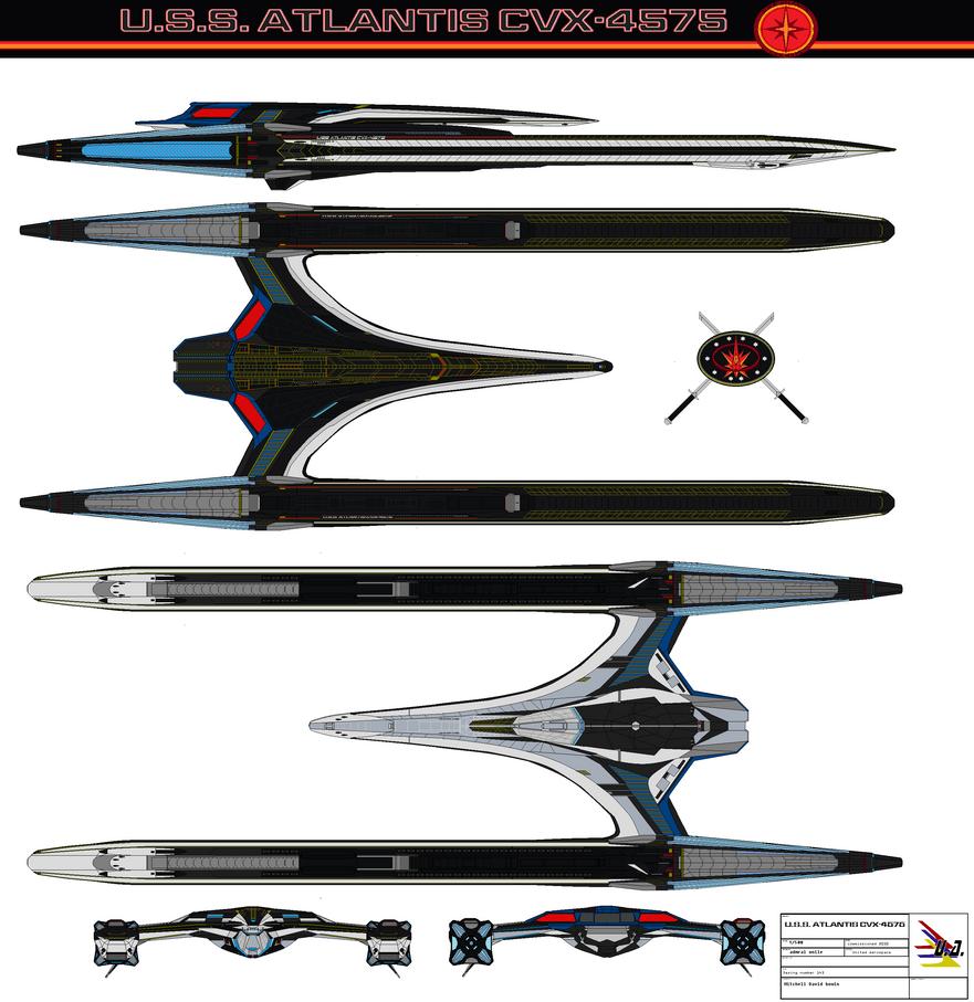 USS Atlantis CVX-4575 Mirror  Galaxy by bagera3005