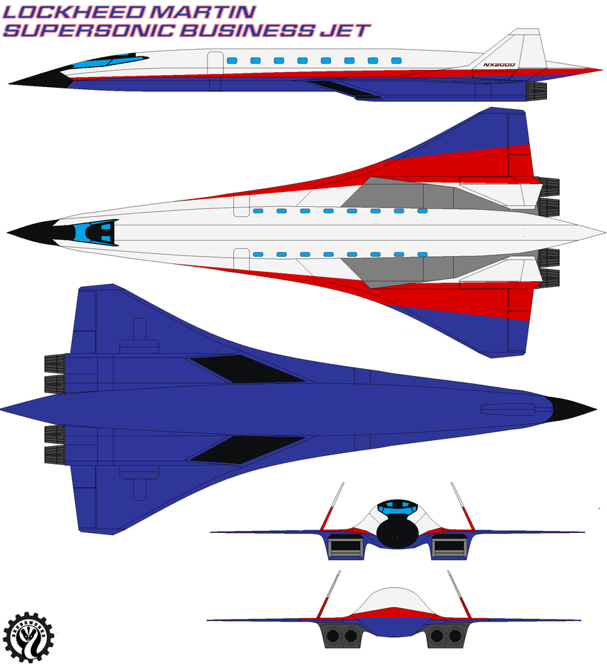Lockheed Martin Supersonic Business Jet By Bagera3005 On