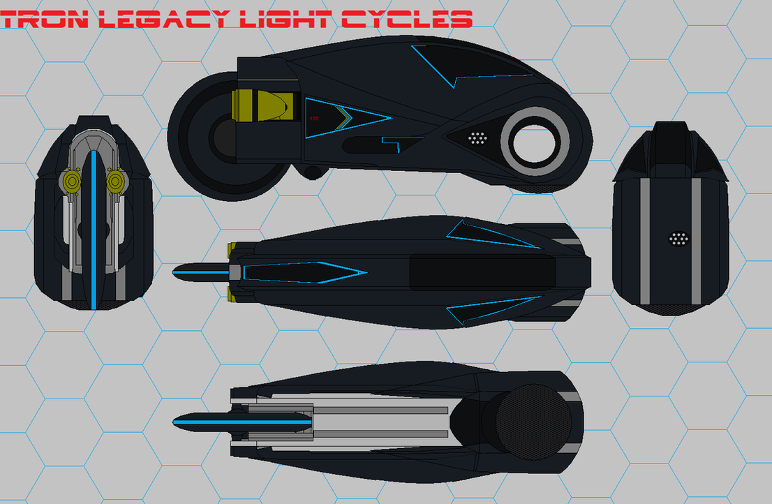 Tron Legacy Light Cycles  black mod by bagera3005