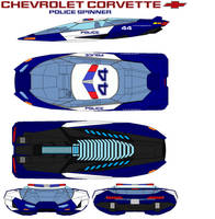 Chevrolet Corvette Police spinner by bagera3005