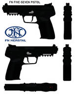 FN Five-seven pistol by bagera3005
