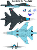 Sukhoi Su-34 Fullback north by bagera3005